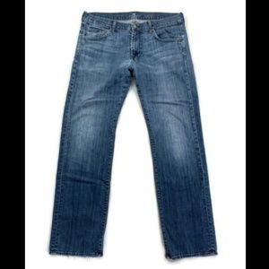 7 For All Mankind Blue Austyn Straight Leg Jeans